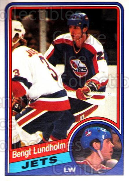 1984-85 O-Pee-Chee #341 Bengt Lundholm<br/>7 In Stock - $1.00 each - <a href=https://centericecollectibles.foxycart.com/cart?name=1984-85%20O-Pee-Chee%20%23341%20Bengt%20Lundholm...&quantity_max=7&price=$1.00&code=206218 class=foxycart> Buy it now! </a>