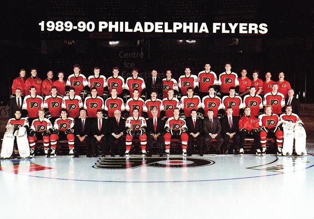 1989-90 Philadelphia Flyers Postcards #29 Philadelphia Flyers, Team Photo<br/>3 In Stock - $3.00 each - <a href=https://centericecollectibles.foxycart.com/cart?name=1989-90%20Philadelphia%20Flyers%20Postcards%20%2329%20Philadelphia%20Fl...&price=$3.00&code=20623 class=foxycart> Buy it now! </a>
