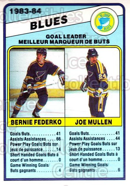 1984-85 O-Pee-Chee #367 Joe Mullen, Bernie Federko<br/>10 In Stock - $1.00 each - <a href=https://centericecollectibles.foxycart.com/cart?name=1984-85%20O-Pee-Chee%20%23367%20Joe%20Mullen,%20Ber...&quantity_max=10&price=$1.00&code=206267 class=foxycart> Buy it now! </a>