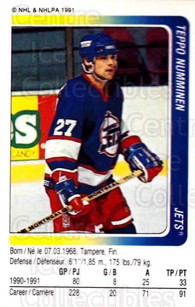 1991-92 Panini Stickers #71 Teppo Numminen<br/>6 In Stock - $1.00 each - <a href=https://centericecollectibles.foxycart.com/cart?name=1991-92%20Panini%20Stickers%20%2371%20Teppo%20Numminen...&quantity_max=6&price=$1.00&code=206325 class=foxycart> Buy it now! </a>