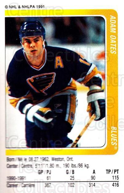 1991-92 Panini Stickers #31 Adam Oates<br/>4 In Stock - $1.00 each - <a href=https://centericecollectibles.foxycart.com/cart?name=1991-92%20Panini%20Stickers%20%2331%20Adam%20Oates...&quantity_max=4&price=$1.00&code=206382 class=foxycart> Buy it now! </a>