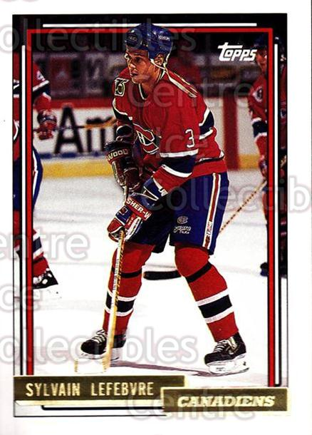 1992-93 Topps Gold #341 Sylvain Lefebvre<br/>6 In Stock - $2.00 each - <a href=https://centericecollectibles.foxycart.com/cart?name=1992-93%20Topps%20Gold%20%23341%20Sylvain%20Lefebvr...&quantity_max=6&price=$2.00&code=206392 class=foxycart> Buy it now! </a>