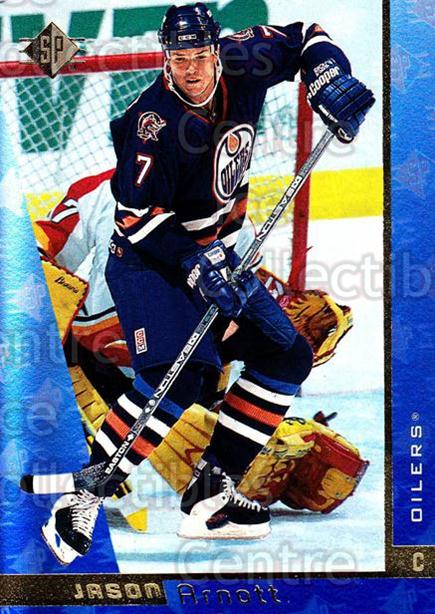 1996-97 SP #55 Jason Arnott<br/>2 In Stock - $1.00 each - <a href=https://centericecollectibles.foxycart.com/cart?name=1996-97%20SP%20%2355%20Jason%20Arnott...&quantity_max=2&price=$1.00&code=206399 class=foxycart> Buy it now! </a>