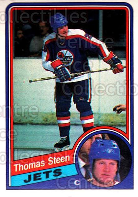 1984-85 O-Pee-Chee #348 Thomas Steen<br/>10 In Stock - $1.00 each - <a href=https://centericecollectibles.foxycart.com/cart?name=1984-85%20O-Pee-Chee%20%23348%20Thomas%20Steen...&quantity_max=10&price=$1.00&code=206423 class=foxycart> Buy it now! </a>