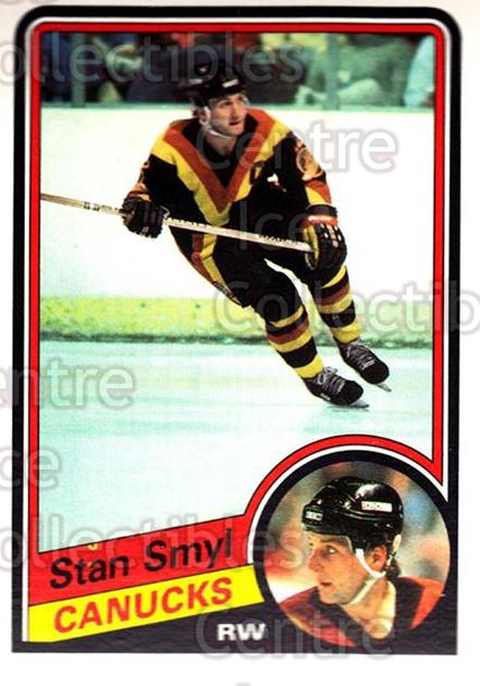 1984-85 O-Pee-Chee #330 Stan Smyl<br/>7 In Stock - $1.00 each - <a href=https://centericecollectibles.foxycart.com/cart?name=1984-85%20O-Pee-Chee%20%23330%20Stan%20Smyl...&quantity_max=7&price=$1.00&code=206439 class=foxycart> Buy it now! </a>