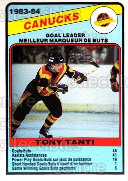 1984-85 O-Pee-Chee #369 Tony Tanti<br/>10 In Stock - $1.00 each - <a href=https://centericecollectibles.foxycart.com/cart?name=1984-85%20O-Pee-Chee%20%23369%20Tony%20Tanti...&quantity_max=10&price=$1.00&code=206551 class=foxycart> Buy it now! </a>