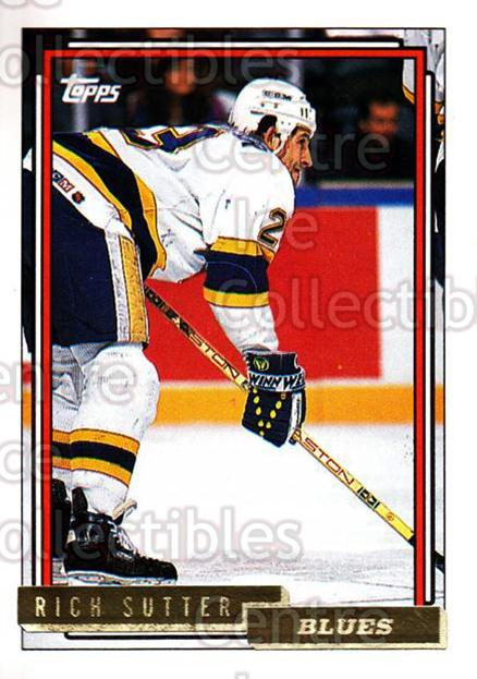 1992-93 Topps Gold #434 Rich Sutter<br/>8 In Stock - $2.00 each - <a href=https://centericecollectibles.foxycart.com/cart?name=1992-93%20Topps%20Gold%20%23434%20Rich%20Sutter...&quantity_max=8&price=$2.00&code=206612 class=foxycart> Buy it now! </a>