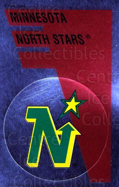 1991-92 Panini Stickers #150 Minnesota North Stars<br/>7 In Stock - $1.00 each - <a href=https://centericecollectibles.foxycart.com/cart?name=1991-92%20Panini%20Stickers%20%23150%20Minnesota%20North...&quantity_max=7&price=$1.00&code=206627 class=foxycart> Buy it now! </a>