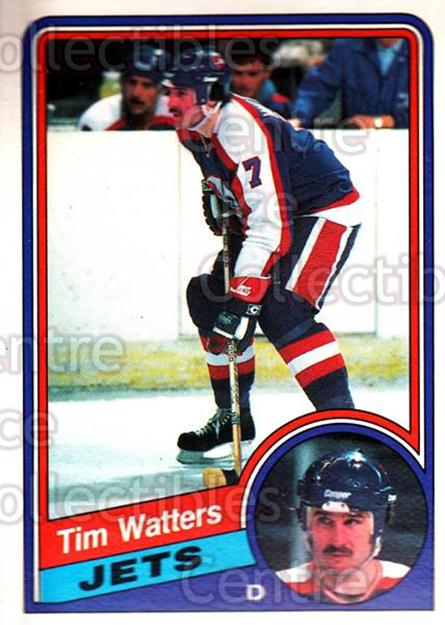 1984-85 O-Pee-Chee #350 Tim Watters<br/>10 In Stock - $1.00 each - <a href=https://centericecollectibles.foxycart.com/cart?name=1984-85%20O-Pee-Chee%20%23350%20Tim%20Watters...&quantity_max=10&price=$1.00&code=206673 class=foxycart> Buy it now! </a>