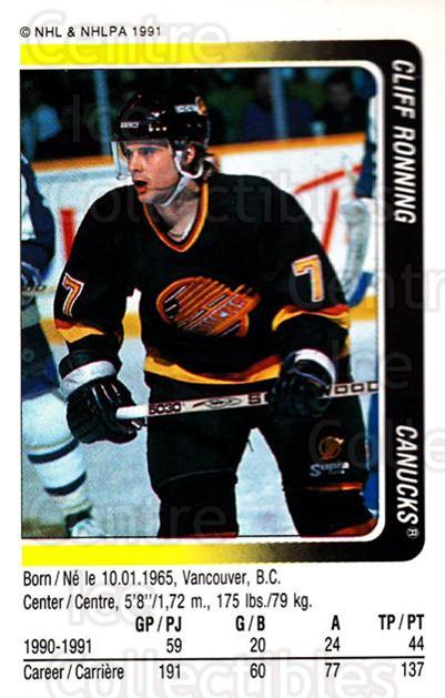 1991-92 Panini Stickers #46 Cliff Ronning<br/>6 In Stock - $1.00 each - <a href=https://centericecollectibles.foxycart.com/cart?name=1991-92%20Panini%20Stickers%20%2346%20Cliff%20Ronning...&quantity_max=6&price=$1.00&code=206700 class=foxycart> Buy it now! </a>