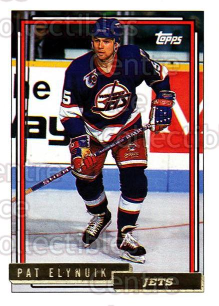 1992-93 Topps Gold #56 Pat Elynuik<br/>7 In Stock - $2.00 each - <a href=https://centericecollectibles.foxycart.com/cart?name=1992-93%20Topps%20Gold%20%2356%20Pat%20Elynuik...&quantity_max=7&price=$2.00&code=206704 class=foxycart> Buy it now! </a>