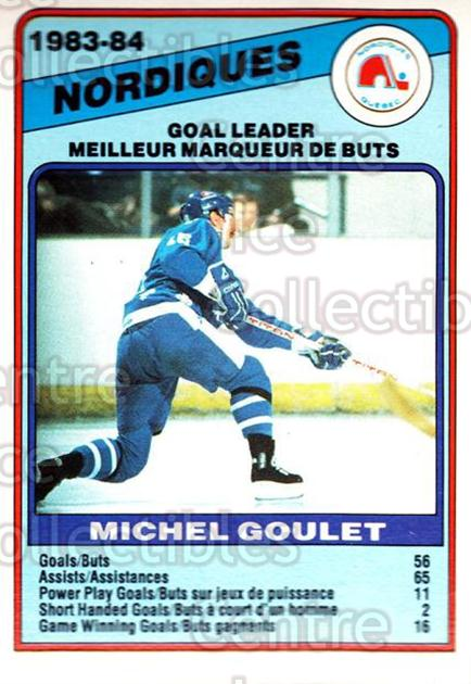 1984-85 O-Pee-Chee #366 Michel Goulet<br/>11 In Stock - $1.00 each - <a href=https://centericecollectibles.foxycart.com/cart?name=1984-85%20O-Pee-Chee%20%23366%20Michel%20Goulet...&quantity_max=11&price=$1.00&code=206710 class=foxycart> Buy it now! </a>