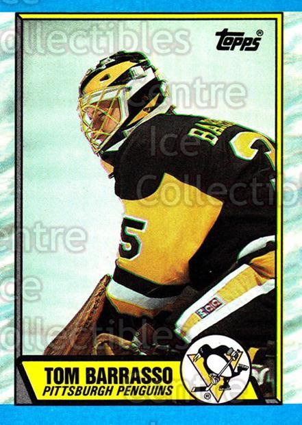 1989-90 Topps #36 Tom Barrasso<br/>5 In Stock - $1.00 each - <a href=https://centericecollectibles.foxycart.com/cart?name=1989-90%20Topps%20%2336%20Tom%20Barrasso...&quantity_max=5&price=$1.00&code=20675 class=foxycart> Buy it now! </a>