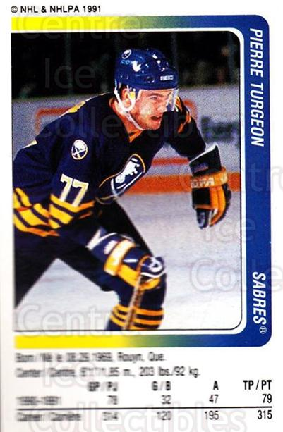 1991-92 Panini Stickers #303 Pierre Turgeon<br/>5 In Stock - $1.00 each - <a href=https://centericecollectibles.foxycart.com/cart?name=1991-92%20Panini%20Stickers%20%23303%20Pierre%20Turgeon...&quantity_max=5&price=$1.00&code=206781 class=foxycart> Buy it now! </a>