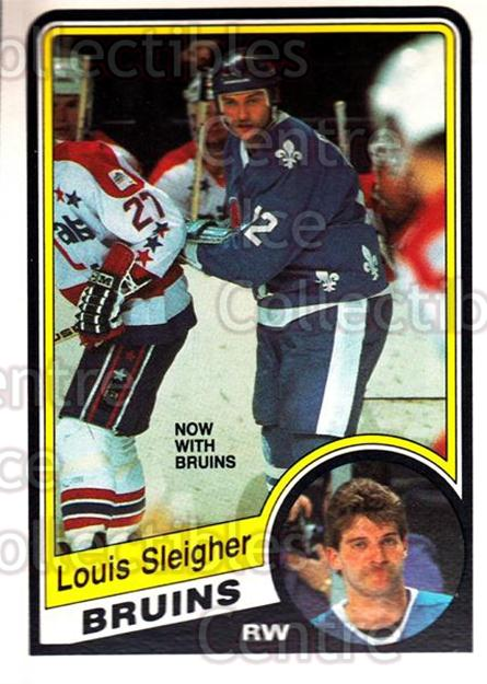 1984-85 O-Pee-Chee #290 Louis Sleigher<br/>10 In Stock - $1.00 each - <a href=https://centericecollectibles.foxycart.com/cart?name=1984-85%20O-Pee-Chee%20%23290%20Louis%20Sleigher...&quantity_max=10&price=$1.00&code=206796 class=foxycart> Buy it now! </a>