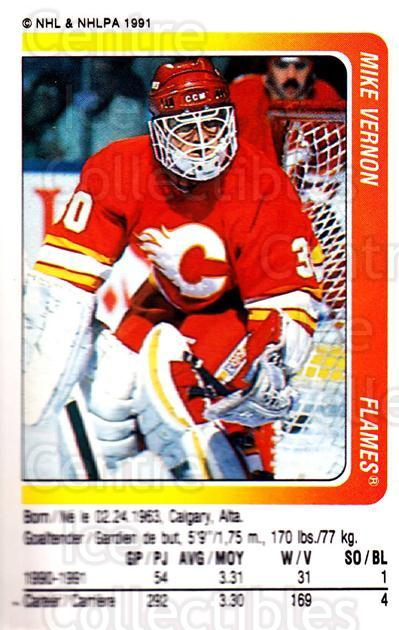 1991-92 Panini Stickers #55 Mike Vernon<br/>7 In Stock - $1.00 each - <a href=https://centericecollectibles.foxycart.com/cart?name=1991-92%20Panini%20Stickers%20%2355%20Mike%20Vernon...&quantity_max=7&price=$1.00&code=206802 class=foxycart> Buy it now! </a>