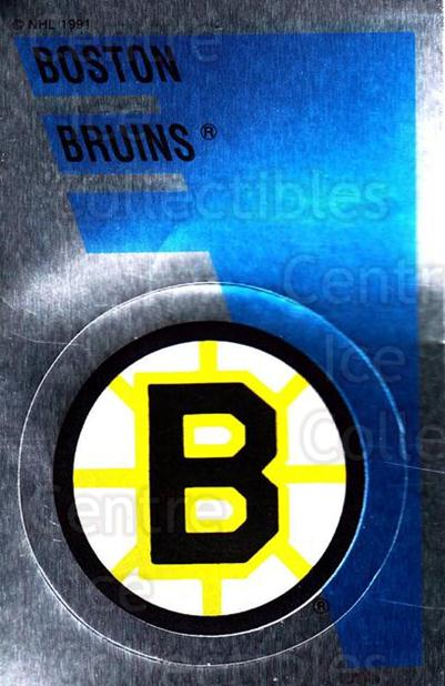 1991-92 Panini Stickers #159 Boston Bruins<br/>7 In Stock - $1.00 each - <a href=https://centericecollectibles.foxycart.com/cart?name=1991-92%20Panini%20Stickers%20%23159%20Boston%20Bruins...&quantity_max=7&price=$1.00&code=206834 class=foxycart> Buy it now! </a>