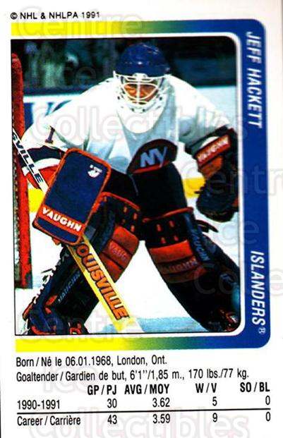 1991-92 Panini Stickers #240 Jeff Hackett<br/>7 In Stock - $1.00 each - <a href=https://centericecollectibles.foxycart.com/cart?name=1991-92%20Panini%20Stickers%20%23240%20Jeff%20Hackett...&quantity_max=7&price=$1.00&code=206838 class=foxycart> Buy it now! </a>