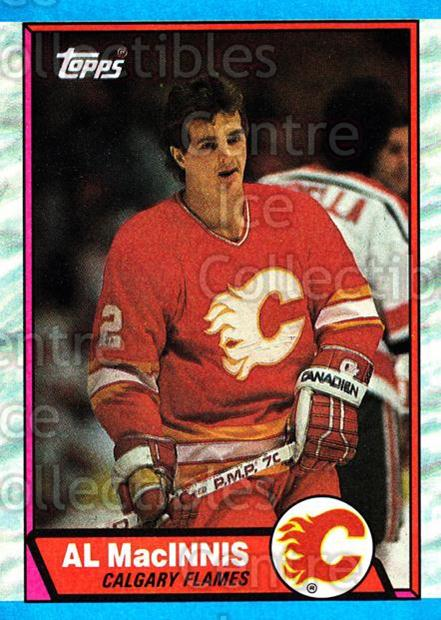 1989-90 Topps #49 Al MacInnis<br/>6 In Stock - $2.00 each - <a href=https://centericecollectibles.foxycart.com/cart?name=1989-90%20Topps%20%2349%20Al%20MacInnis...&quantity_max=6&price=$2.00&code=20688 class=foxycart> Buy it now! </a>