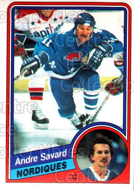 1984-85 O-Pee-Chee #288 Andre Savard<br/>9 In Stock - $1.00 each - <a href=https://centericecollectibles.foxycart.com/cart?name=1984-85%20O-Pee-Chee%20%23288%20Andre%20Savard...&quantity_max=9&price=$1.00&code=206890 class=foxycart> Buy it now! </a>
