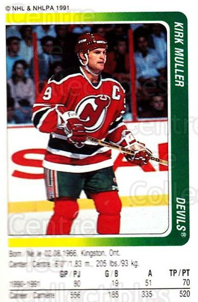 1991-92 Panini Stickers #219 Kirk Muller<br/>7 In Stock - $1.00 each - <a href=https://centericecollectibles.foxycart.com/cart?name=1991-92%20Panini%20Stickers%20%23219%20Kirk%20Muller...&quantity_max=7&price=$1.00&code=206904 class=foxycart> Buy it now! </a>