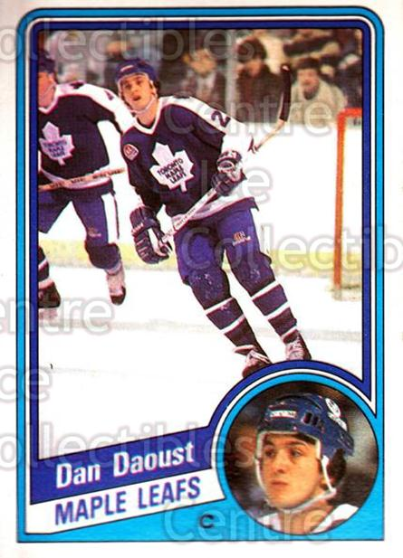 1984-85 O-Pee-Chee #299 Dan Daoust<br/>6 In Stock - $1.00 each - <a href=https://centericecollectibles.foxycart.com/cart?name=1984-85%20O-Pee-Chee%20%23299%20Dan%20Daoust...&quantity_max=6&price=$1.00&code=206922 class=foxycart> Buy it now! </a>