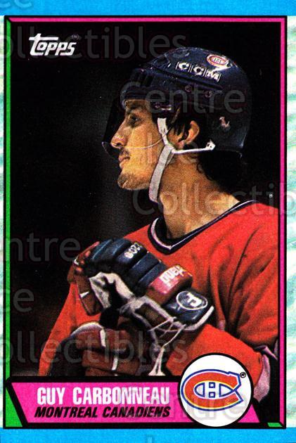 1989-90 Topps #53 Guy Carbonneau<br/>4 In Stock - $1.00 each - <a href=https://centericecollectibles.foxycart.com/cart?name=1989-90%20Topps%20%2353%20Guy%20Carbonneau...&quantity_max=4&price=$1.00&code=20693 class=foxycart> Buy it now! </a>