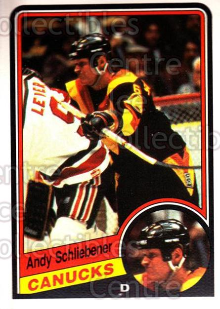 1984-85 O-Pee-Chee #329 Andy Schliebener<br/>10 In Stock - $1.00 each - <a href=https://centericecollectibles.foxycart.com/cart?name=1984-85%20O-Pee-Chee%20%23329%20Andy%20Schliebene...&quantity_max=10&price=$1.00&code=206943 class=foxycart> Buy it now! </a>