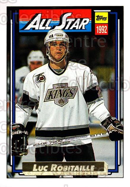 1992-93 Topps Gold #266 Luc Robitaille<br/>7 In Stock - $2.00 each - <a href=https://centericecollectibles.foxycart.com/cart?name=1992-93%20Topps%20Gold%20%23266%20Luc%20Robitaille...&quantity_max=7&price=$2.00&code=206949 class=foxycart> Buy it now! </a>