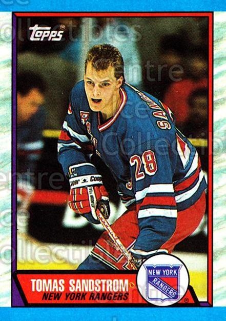 1989-90 Topps #54 Tomas Sandstrom<br/>3 In Stock - $1.00 each - <a href=https://centericecollectibles.foxycart.com/cart?name=1989-90%20Topps%20%2354%20Tomas%20Sandstrom...&quantity_max=3&price=$1.00&code=20694 class=foxycart> Buy it now! </a>