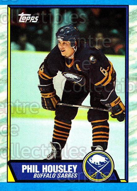 1989-90 Topps #59 Phil Housley<br/>4 In Stock - $1.00 each - <a href=https://centericecollectibles.foxycart.com/cart?name=1989-90%20Topps%20%2359%20Phil%20Housley...&quantity_max=4&price=$1.00&code=20698 class=foxycart> Buy it now! </a>