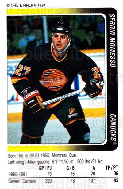 1991-92 Panini Stickers #44 Sergio Momesso<br/>7 In Stock - $1.00 each - <a href=https://centericecollectibles.foxycart.com/cart?name=1991-92%20Panini%20Stickers%20%2344%20Sergio%20Momesso...&quantity_max=7&price=$1.00&code=207028 class=foxycart> Buy it now! </a>