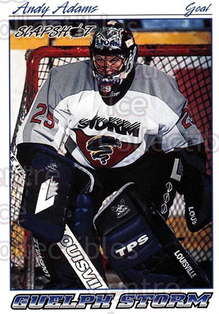 1995-96 Slapshot #82 Andy Adams<br/>8 In Stock - $2.00 each - <a href=https://centericecollectibles.foxycart.com/cart?name=1995-96%20Slapshot%20%2382%20Andy%20Adams...&quantity_max=8&price=$2.00&code=207048 class=foxycart> Buy it now! </a>