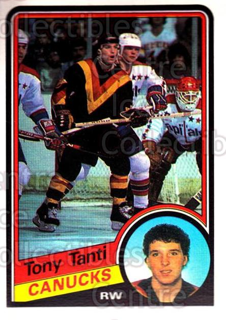 1984-85 O-Pee-Chee #332 Tony Tanti<br/>8 In Stock - $1.00 each - <a href=https://centericecollectibles.foxycart.com/cart?name=1984-85%20O-Pee-Chee%20%23332%20Tony%20Tanti...&quantity_max=8&price=$1.00&code=207050 class=foxycart> Buy it now! </a>
