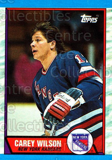 1989-90 Topps #66 Carey Wilson<br/>6 In Stock - $1.00 each - <a href=https://centericecollectibles.foxycart.com/cart?name=1989-90%20Topps%20%2366%20Carey%20Wilson...&quantity_max=6&price=$1.00&code=20705 class=foxycart> Buy it now! </a>