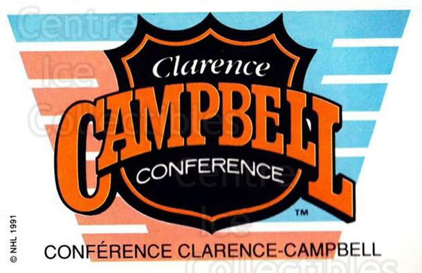 1991-92 Panini Stickers #5 Clarence Conference<br/>7 In Stock - $1.00 each - <a href=https://centericecollectibles.foxycart.com/cart?name=1991-92%20Panini%20Stickers%20%235%20Clarence%20Confer...&quantity_max=7&price=$1.00&code=207064 class=foxycart> Buy it now! </a>