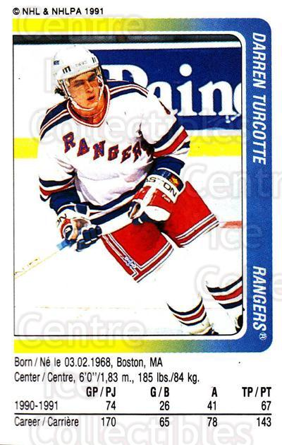 1991-92 Panini Stickers #285 Darren Turcotte<br/>7 In Stock - $1.00 each - <a href=https://centericecollectibles.foxycart.com/cart?name=1991-92%20Panini%20Stickers%20%23285%20Darren%20Turcotte...&quantity_max=7&price=$1.00&code=207117 class=foxycart> Buy it now! </a>