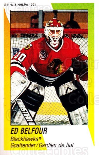1991-92 Panini Stickers #337 Ed Belfour<br/>4 In Stock - $1.00 each - <a href=https://centericecollectibles.foxycart.com/cart?name=1991-92%20Panini%20Stickers%20%23337%20Ed%20Belfour...&price=$1.00&code=207143 class=foxycart> Buy it now! </a>