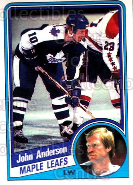 1984-85 O-Pee-Chee #295 John Anderson<br/>11 In Stock - $1.00 each - <a href=https://centericecollectibles.foxycart.com/cart?name=1984-85%20O-Pee-Chee%20%23295%20John%20Anderson...&quantity_max=11&price=$1.00&code=207145 class=foxycart> Buy it now! </a>