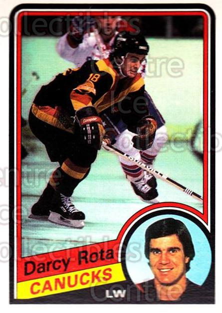 1984-85 O-Pee-Chee #328 Darcy Rota<br/>9 In Stock - $1.00 each - <a href=https://centericecollectibles.foxycart.com/cart?name=1984-85%20O-Pee-Chee%20%23328%20Darcy%20Rota...&quantity_max=9&price=$1.00&code=207153 class=foxycart> Buy it now! </a>