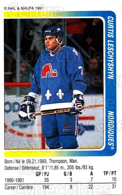 1991-92 Panini Stickers #256 Curtis Leschyshyn<br/>7 In Stock - $1.00 each - <a href=https://centericecollectibles.foxycart.com/cart?name=1991-92%20Panini%20Stickers%20%23256%20Curtis%20Leschysh...&quantity_max=7&price=$1.00&code=207178 class=foxycart> Buy it now! </a>