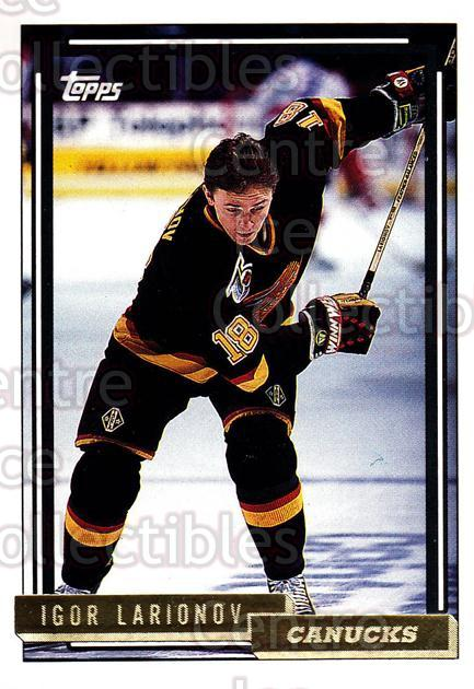 1992-93 Topps Gold #512 Igor Larionov<br/>3 In Stock - $2.00 each - <a href=https://centericecollectibles.foxycart.com/cart?name=1992-93%20Topps%20Gold%20%23512%20Igor%20Larionov...&quantity_max=3&price=$2.00&code=207208 class=foxycart> Buy it now! </a>
