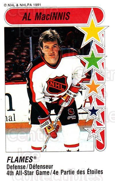 1991-92 Panini Stickers #330 Al MacInnis<br/>7 In Stock - $1.00 each - <a href=https://centericecollectibles.foxycart.com/cart?name=1991-92%20Panini%20Stickers%20%23330%20Al%20MacInnis...&quantity_max=7&price=$1.00&code=207220 class=foxycart> Buy it now! </a>