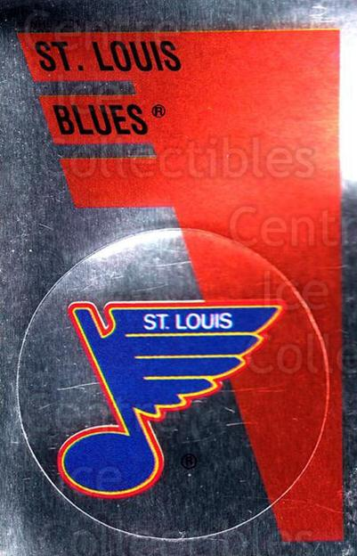 1991-92 Panini Stickers #151 St. Louis Blues<br/>6 In Stock - $1.00 each - <a href=https://centericecollectibles.foxycart.com/cart?name=1991-92%20Panini%20Stickers%20%23151%20St.%20Louis%20Blues...&quantity_max=6&price=$1.00&code=207221 class=foxycart> Buy it now! </a>