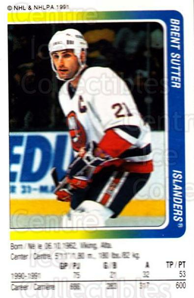1991-92 Panini Stickers #246 Brent Sutter<br/>7 In Stock - $1.00 each - <a href=https://centericecollectibles.foxycart.com/cart?name=1991-92%20Panini%20Stickers%20%23246%20Brent%20Sutter...&quantity_max=7&price=$1.00&code=207250 class=foxycart> Buy it now! </a>