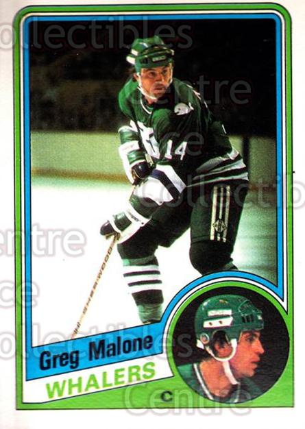 1984-85 O-Pee-Chee #74 Greg Malone<br/>7 In Stock - $1.00 each - <a href=https://centericecollectibles.foxycart.com/cart?name=1984-85%20O-Pee-Chee%20%2374%20Greg%20Malone...&quantity_max=7&price=$1.00&code=207290 class=foxycart> Buy it now! </a>