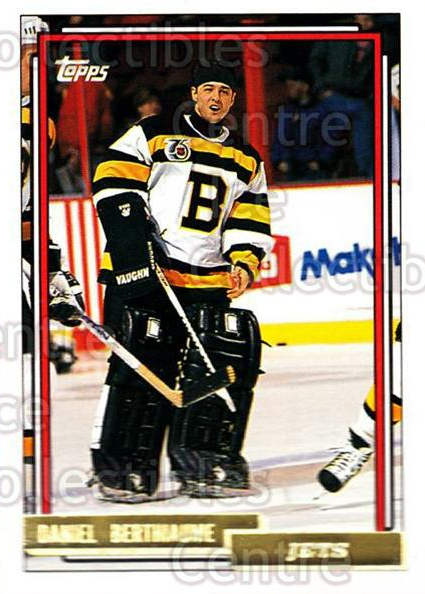 1992-93 Topps Gold #505 Daniel Berthiaume<br/>4 In Stock - $2.00 each - <a href=https://centericecollectibles.foxycart.com/cart?name=1992-93%20Topps%20Gold%20%23505%20Daniel%20Berthiau...&quantity_max=4&price=$2.00&code=207317 class=foxycart> Buy it now! </a>