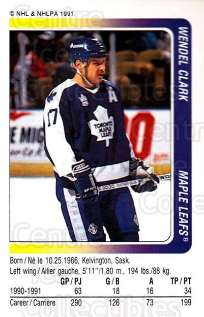 1991-92 Panini Stickers #102 Wendel Clark<br/>6 In Stock - $1.00 each - <a href=https://centericecollectibles.foxycart.com/cart?name=1991-92%20Panini%20Stickers%20%23102%20Wendel%20Clark...&quantity_max=6&price=$1.00&code=207357 class=foxycart> Buy it now! </a>
