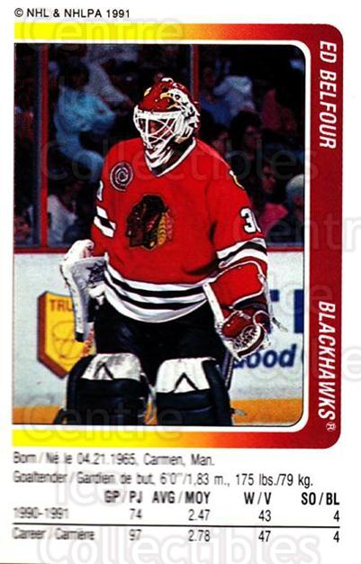 1991-92 Panini Stickers #9 Ed Belfour<br/>6 In Stock - $1.00 each - <a href=https://centericecollectibles.foxycart.com/cart?name=1991-92%20Panini%20Stickers%20%239%20Ed%20Belfour...&price=$1.00&code=207396 class=foxycart> Buy it now! </a>