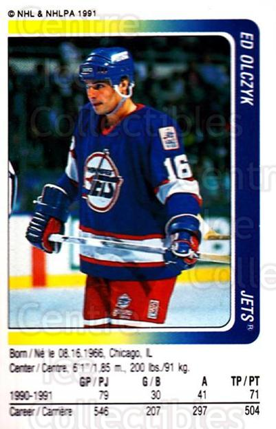 1991-92 Panini Stickers #64 Ed Olczyk<br/>6 In Stock - $1.00 each - <a href=https://centericecollectibles.foxycart.com/cart?name=1991-92%20Panini%20Stickers%20%2364%20Ed%20Olczyk...&quantity_max=6&price=$1.00&code=207428 class=foxycart> Buy it now! </a>